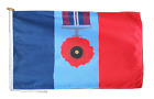 Remembrance Day Poppy Armed Forces Flag With Rope and Toggle - Various Sizes