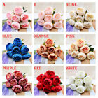 13x Peony Artificial Peony Fake Silk Flowers Bridal Wedding Bouquet Home Decor