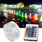 1-20x Remote Control RGB 16 Colour Changing Underwater Pond Aqua Mood LED Lights