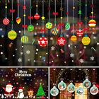 Christmas Gift Wreath Wall Window Stickers Decals Xmas Home Shop Decoration Diy