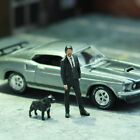 1:64 Scale Model Killer And PitBull Alloy Car Static Figures Miniature Diorama
