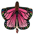 Women Girl Butterfly Wings Shawl Fairy Ladies Party Festival Nymph Pixie Costume