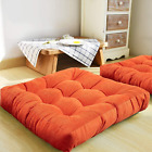 MAXYOYO Large Square Solid Floor Cushion, Thicken Seating Floor Cushions Corduro