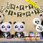 Cake Topper Inflatable Toy Foil Balloons Birthday Party Banner Panda Theme