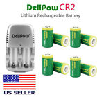 800mAh 3V CR2 Lithium Rechargeable Batteries For Flashlight Golf Rangefinder