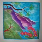 Hawaiian Beach Fabric Art Quilt Velvet Wall Hanging Big Stitch Hand Quilted