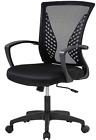 Home Office Chair Mid Back Pc Swivel Lumbar Support Adjustable Desk Task Compute