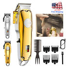 Kemei 1986 pg All-metal Professional Cordless Hair Clipper / Trimmer Gold USA