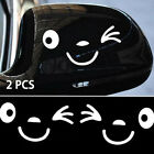 Luggage Decor Side Mirror Rearview Car Stickers Luggage Sticker  3d Smile Face