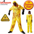 N234 Mens Hazmat Suit Jumpsuit Halloween Lab Walter Hazard Breaking Bad Costume