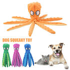 Funny Interactive Training Plush Octopus Dog Squeaky Toy Crinkle No Stuffing