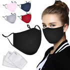 Men Women Cotton Cloth Muffle Face Cover Reusable Washable with 3pcs Filters
