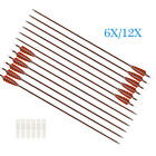 """30"""" Feather Carbon Arrows Shooting Hunting for Compound and Recurve Bow 6/12PCS"""