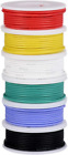 Tuofeng 22Awg Pvc Electrical Wire Kit- 6 Different Colored 30 Feet Spools- 22 Ga