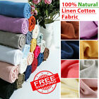 Linen Cotton Fabric Organic Material 100% Natural Flax Cambric Eco Craft Costume