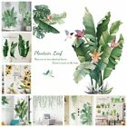 Tropical Foliage Leaves Green Plant Wall Stickers Vinyl Decal Home Art Decor Uk