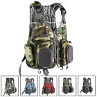 NovelBee Mesh Fly Fishing Backpack Vest Combo Chest Pack Adjustable Size