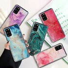 For Samsung S21 S20 FE Note 20 A71 A51 Glitter Marble Shockproof Soft Case Cover