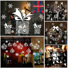 Christmas Xmas Santa Removable Window Stickers Art Decal Wall Home Shop Decor L