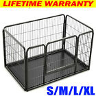 Dog Puppy Whelping Cage / Crate 4 Sided Play Pen Strong Plastic Tray Heavy Duty