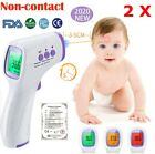 2x Non-Contact Infrared Digital Forehead Thermometer Baby Adult Temperature W