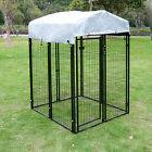 Dog Playpen House Heavy Duty Large Outdoor Dog Kennel Galvanized Steel Fence