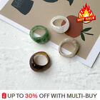 Women Retro Resin Ring Acrylic Ring Wedding Bands Party Birthday Jewelry Gift