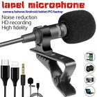 Lavalier Lapel Mini Stereo Microphone Clip On Condenser For IPhone,IPad,Android