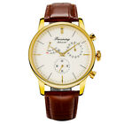 FORSINING Fashion Mechanical Automatic Watch for Men Leather Strap Power Reserve