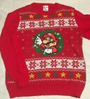 Nintendo's SUPER MARIO CHRISTMAS SWEATER Boys size XL