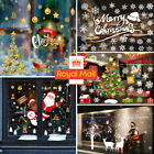 Uk Christmas Xmas Santa Removable Window Stickers Art Decal Wall Home Shop Decor