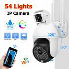 54 LED 1080P HD WiFi PTZ IP Camera Security CCTV Outdoor Night Vision Dual Cam