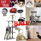 Large Deluxe Cat Tree Climbing Tower Kitten Activity Centre With Bed/Scratcher