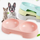 Feeder Dog Cat Pets Supplies Feeding Drinking Pet Bowls Double Water Food Dish
