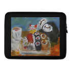 No Face, eating sushi, Spirited Away illustraion. Fan art. Laptop Sleeve