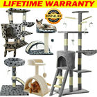 Multi-Level Cat Tree Scratching Post Kitten Climbing Tower Activity Centre Home