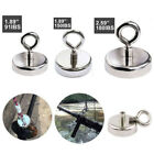 90/150/180LB Magnet Strong Salvage Hook Round Fishing Magnetic Ring hang mount