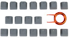 Tai-Hao 18-Key TPR Backlit Double Shot Rubber Keycap Set - ALL COLORS