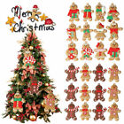 12pc Gingerbread Mans Christmas Hanging Pendants Xmas Tree Decor Ornaments Party