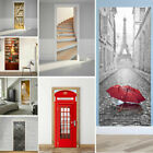 3d Door Wall Fridge Sticker Wrap Mural Scenery Self Adhesive Home Decor Decal Uk