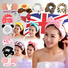 Big Bow Soft Dot Striped Towel Hair Band Wrap Headband For Make Up Bath Spa