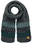 Barts Scarf Winter Scarf Knit Scarf Grey Wilhelm Stripes Warming
