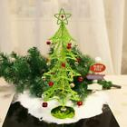 Metal Wire Table Top Christmas Tree with Colourful Bells Ornament Decoration