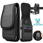 Vertical Cell Phone Holster Pouch Wallet Case with Belt Clip Loop for iphone LG
