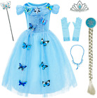 Party Chili Princess Costume for Girls Birthday,Christmas Dress Up with Accessor