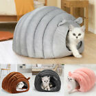 New 2 In 1 Pet Dog Cat Bed Round Plush Warm Soft Long Plush Cat Bed High QualiM