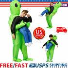 Adult Kids Inflatable Green Alien Costume Funny Festival Cosplay Party Suit USA