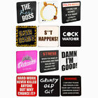 Novelty Coasters Drinks Mat Gift Beer Funny Present Cup Mug Coffee Tea Designs