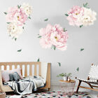 40x60cm Wall Sticker Peony Flower Floral Pattern Mirror Surface Diy Home Decor