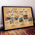 God Say You Are Flowers Camera Photographer Gift Horizontal Art Decor Poster